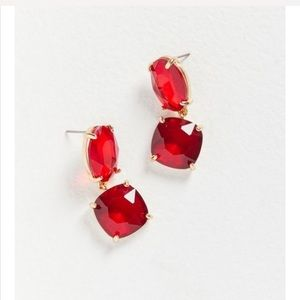 Urban ruby stone drop earring